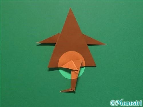 折り紙でから傘お化けの折り方手順58