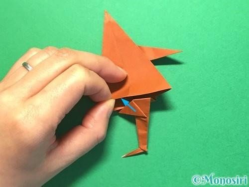 折り紙でから傘お化けの折り方手順59