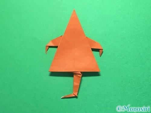 折り紙でから傘お化けの折り方手順62