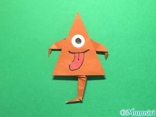 折り紙でから傘お化けの折り方手順63