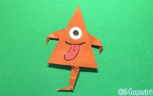 折り紙で折ったから傘お化け