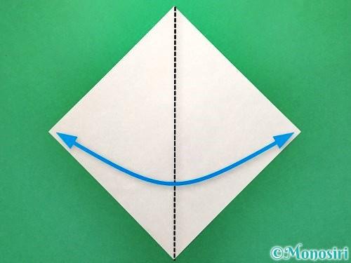 折り紙で花火の作り方手順1