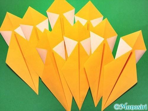 折り紙で花火の作り方手順13