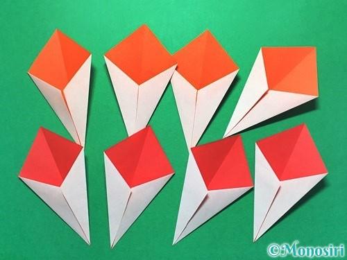 折り紙で花火の作り方手順25