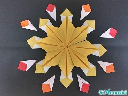折り紙で花火の作り方手順26