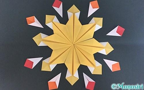 折り紙で作った花火