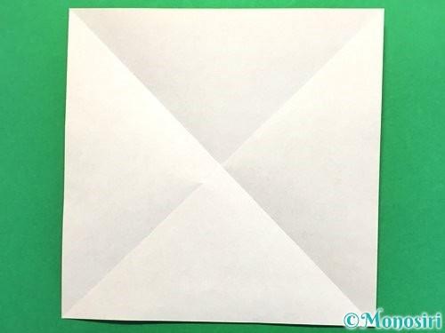 折り紙で立体的な花火の作り方手順2