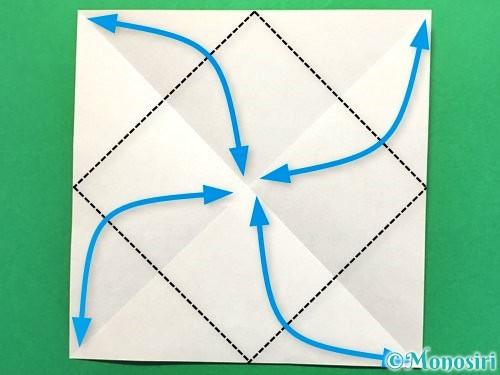 折り紙で立体的な花火の作り方手順3