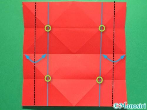 折り紙で立体的な花火の作り方手順10