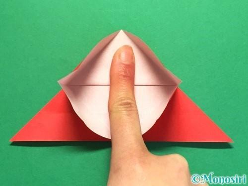 折り紙で立体的な花火の作り方手順18