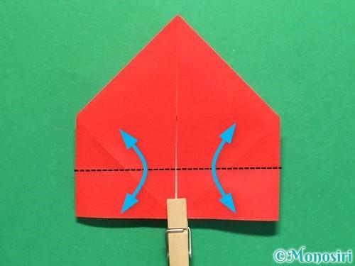折り紙で立体的な花火の作り方手順22