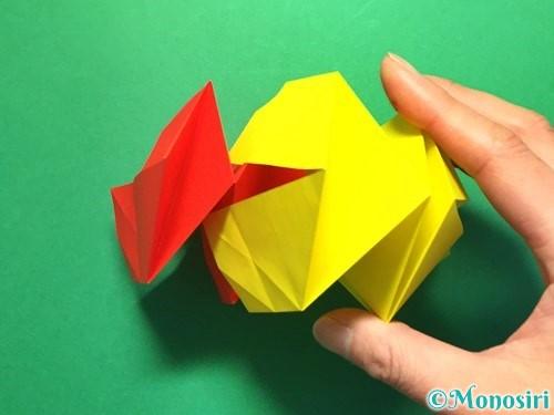 折り紙で立体的な花火の作り方手順31