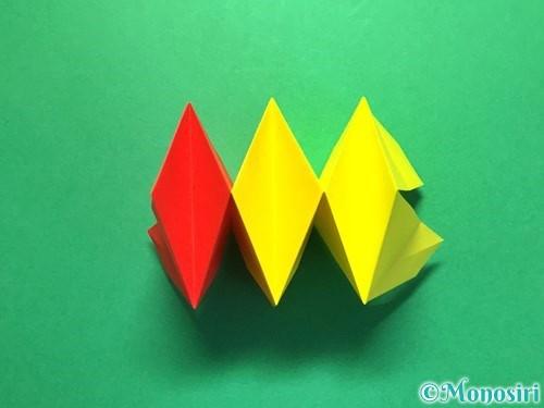 折り紙で立体的な花火の作り方手順32