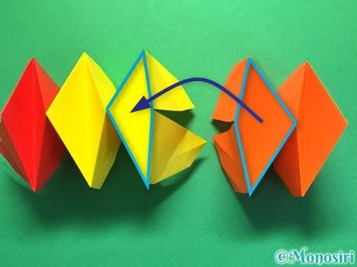折り紙で立体的な花火の作り方手順33
