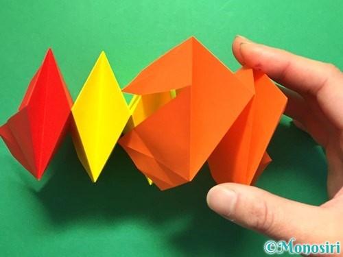 折り紙で立体的な花火の作り方手順34