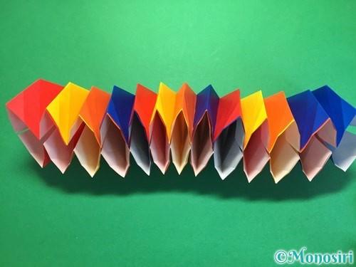 折り紙で立体的な花火の作り方手順37