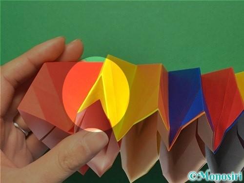 折り紙で立体的な花火の作り方手順40