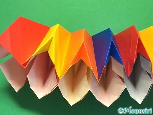 折り紙で立体的な花火の作り方手順41