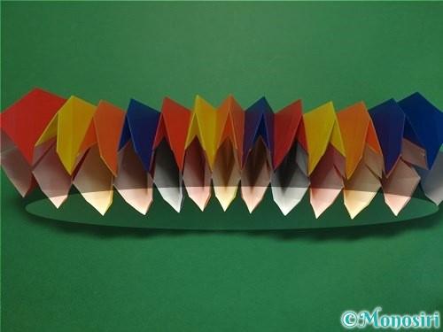 折り紙で立体的な花火の作り方手順42
