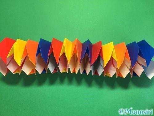 折り紙で立体的な花火の作り方手順43