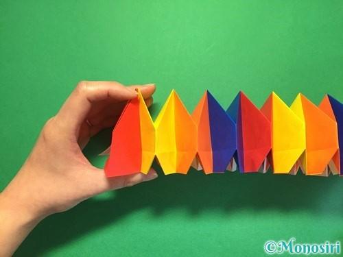 折り紙で立体的な花火の作り方手順44