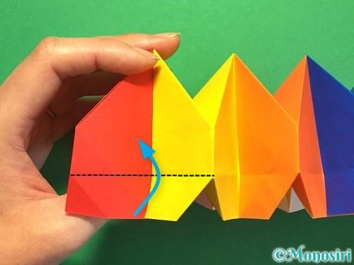 折り紙で立体的な花火の作り方手順45