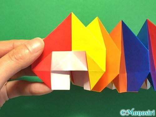 折り紙で立体的な花火の作り方手順46