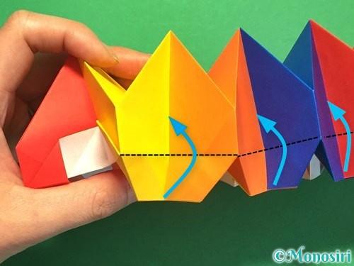 折り紙で立体的な花火の作り方手順47