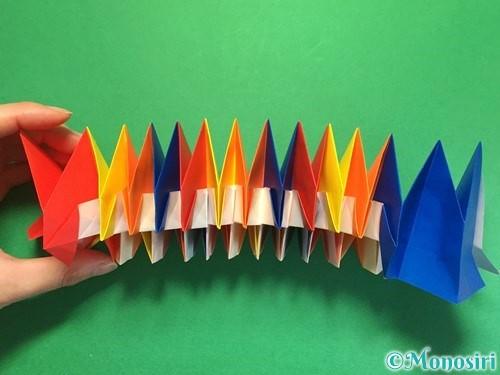 折り紙で立体的な花火の作り方手順48