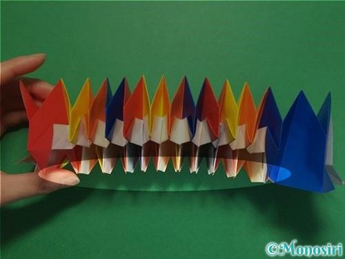 折り紙で立体的な花火の作り方手順49