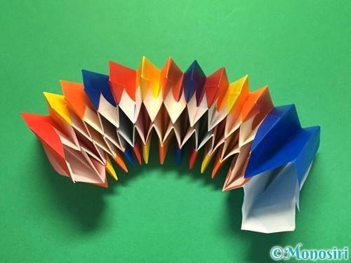 折り紙で立体的な花火の作り方手順50