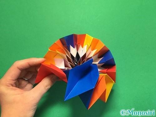 折り紙で立体的な花火の作り方手順52