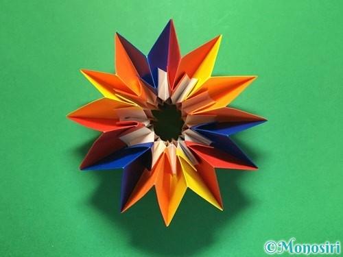 折り紙で立体的な花火の作り方手順55