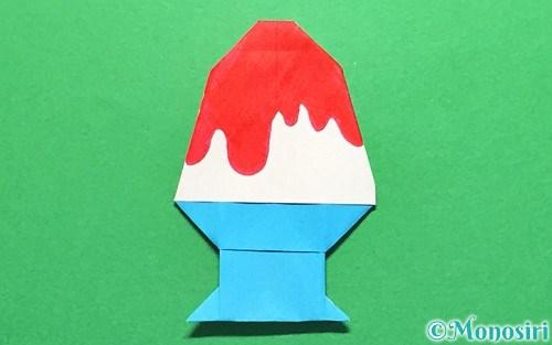折り紙で折ったかき氷