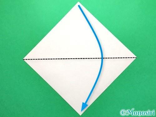 折り紙で金魚の折り方手順1