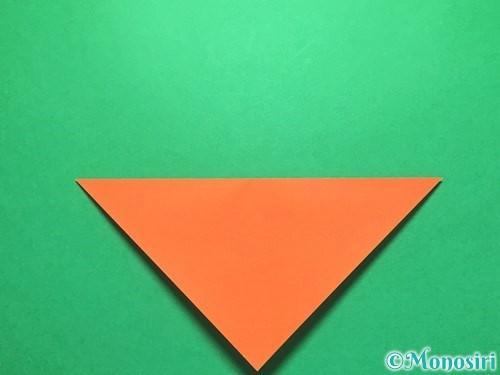 折り紙で金魚の折り方手順2