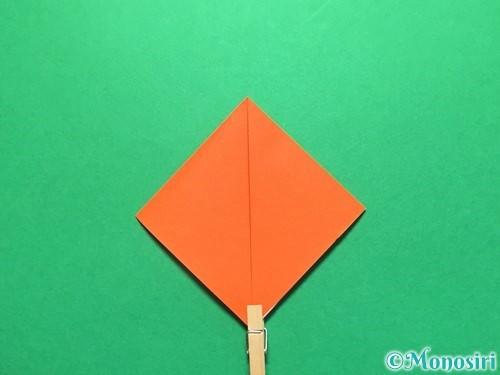 折り紙で金魚の折り方手順4