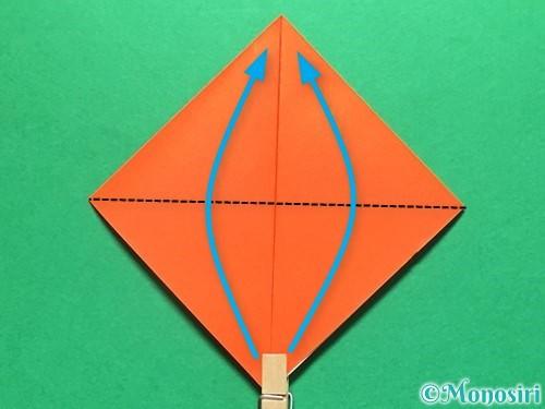 折り紙で金魚の折り方手順5