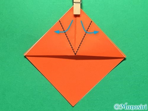 折り紙で金魚の折り方手順7