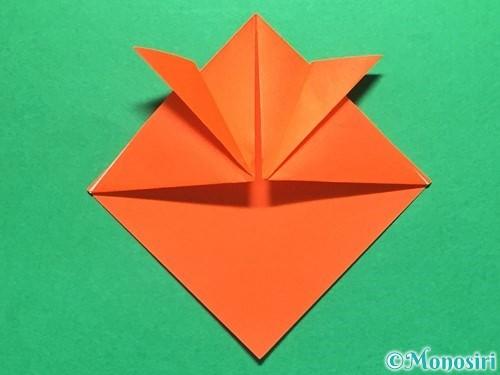 折り紙で金魚の折り方手順8