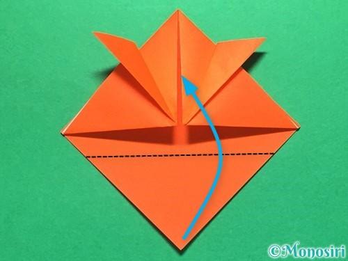 折り紙で金魚の折り方手順9