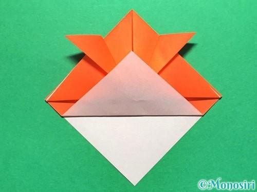 折り紙で金魚の折り方手順10