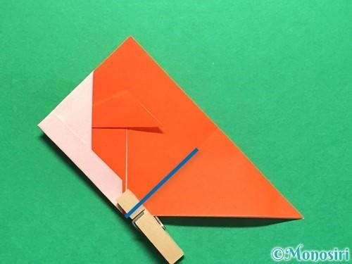折り紙で金魚の折り方手順19