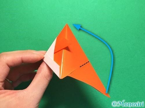 折り紙で金魚の折り方手順20