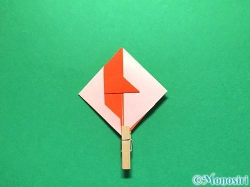 折り紙で金魚の折り方手順23