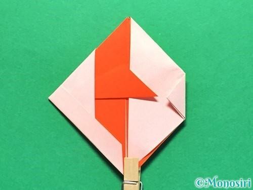 折り紙で金魚の折り方手順25