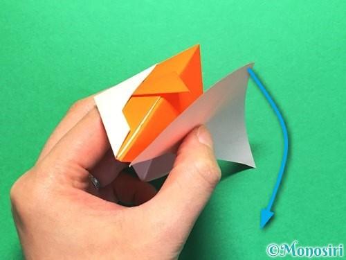 折り紙で金魚の折り方手順26
