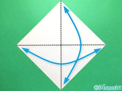 折り紙で立体的な金魚の折り方手順1