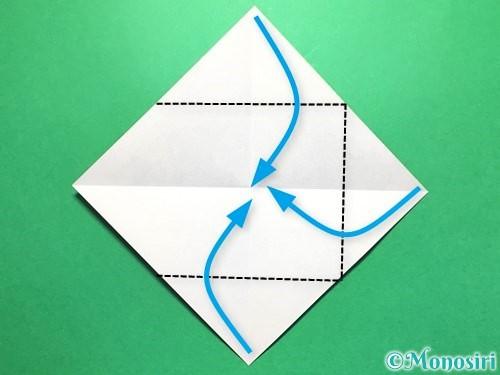 折り紙で立体的な金魚の折り方手順3