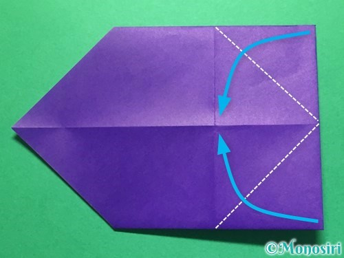 折り紙で立体的な金魚の折り方手順6